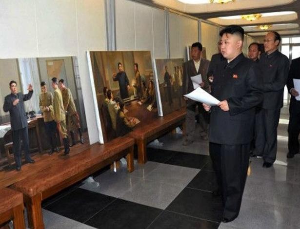 O estúdio Mansudae é o único autorizado a retratar os líderes da Coreia do Norte