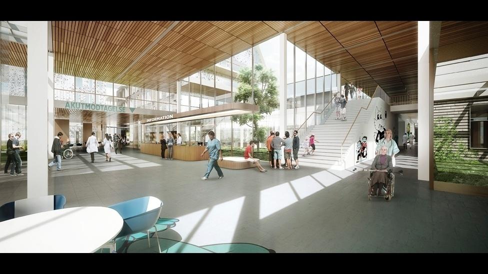Na imagem acima, o vencedor na categoria Antigo e Novo foi o projeto para o Hospital Bispebjerg, na Dinamarca, criado pelo escritório CF Moller.