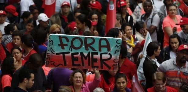 Manifestantes participam do Grito dos Excluídos em SP  - Danilo Verpa/Folhapress