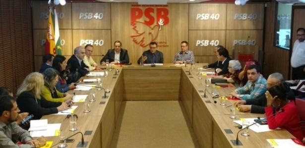 Integrantes da Executiva Nacional do PSB reunidos em Brasília