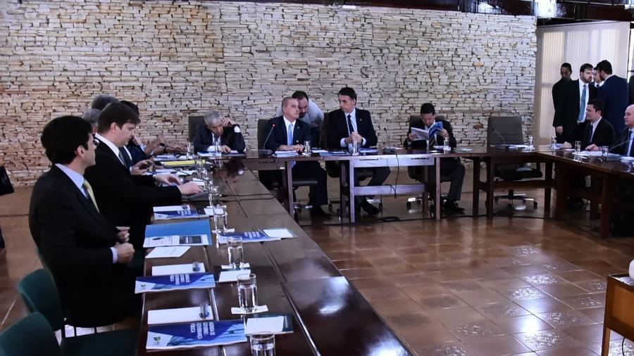 19.dez.2018 - Bolsonaro faz reunião com seus futuros ministros na Granja do Torto - Rafael Carvalho/Governo de Transição
