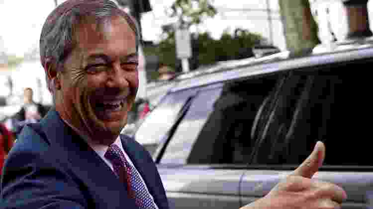 27.maio.2019 - Nigel Farage, líder do partido do Brexit - Reuters - Reuters