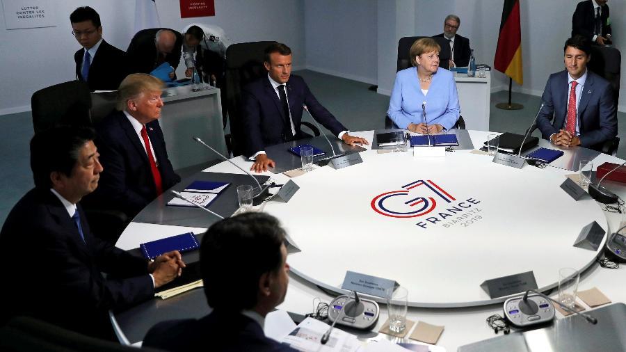 26.ago.2019 - Líderes do G7 se reuniram em Biarritz, na França - Carlos Barria/Reuters