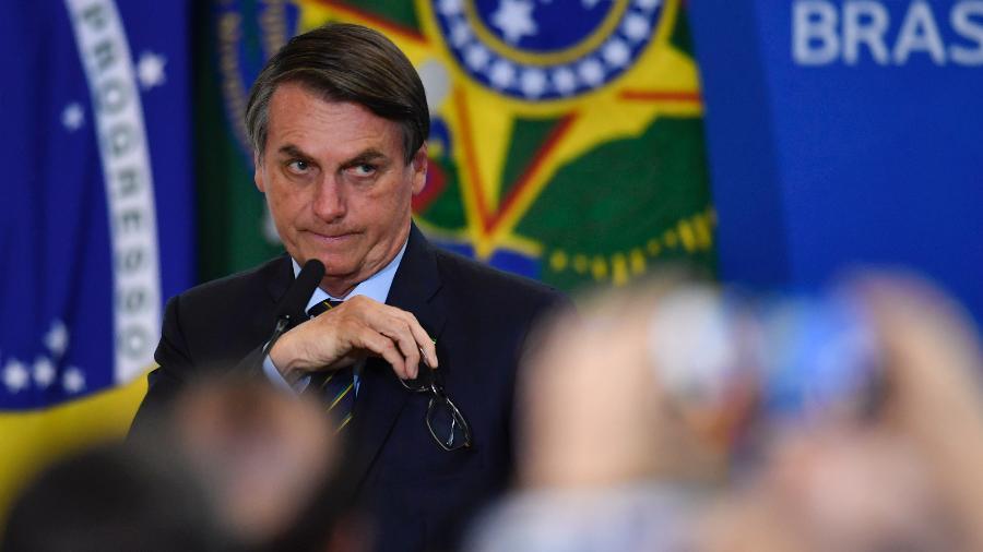 O presidente Jair Bolsonaro participa de um culto de ação de graças no Palácio do Planalto - MATEUS BONOMI/AGIF/ESTADÃO CONTEÚDO