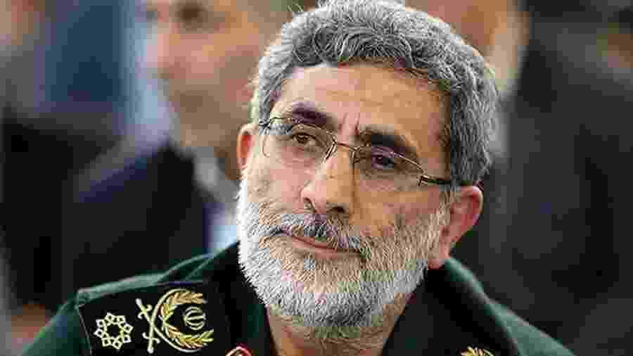 O general de brigada Esmail Ghaani, apontado como o sucessor do iraniano Qassim Suleimani - Tasnim/Reuters