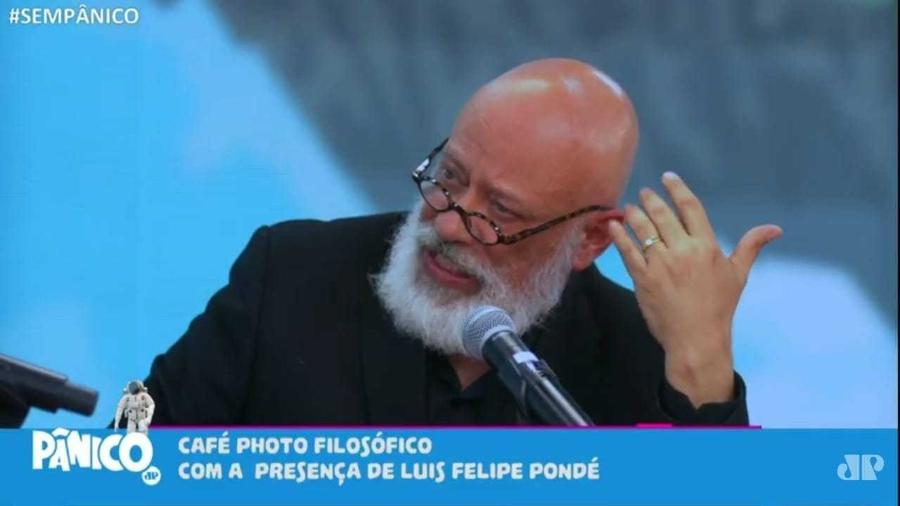 """Pondé disse que Lula teria administrado o país """"melhor"""" que Bolsonaro na pandemia - Reprodução/Jovem Pan"""