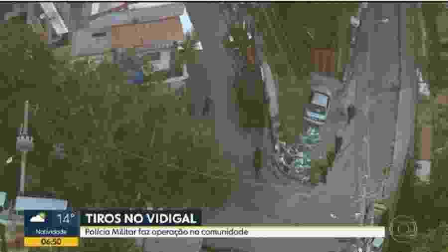 Operação Policial no Morro do Vidigal, no Rio de Janeiro (RJ) - Reprodução/TV Globo
