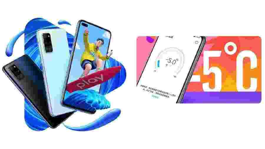 Honor Play 4: linha de smartphones da Huawei vem com termômetro em infravermelho - Divulgação/Huawei