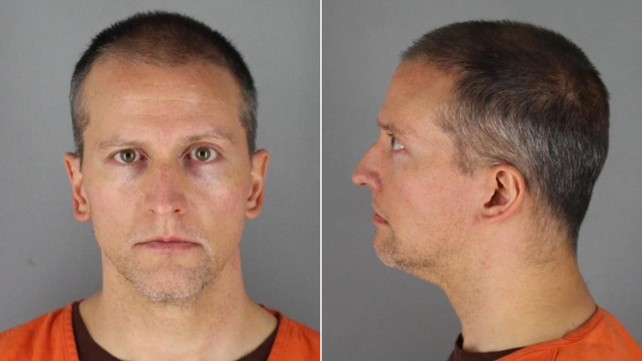 Derek Chauvin, policial que se ajoelhou sobre o pescoço de George Floyd - Divulgação/Gabinete do xerife do condado de Hennepin