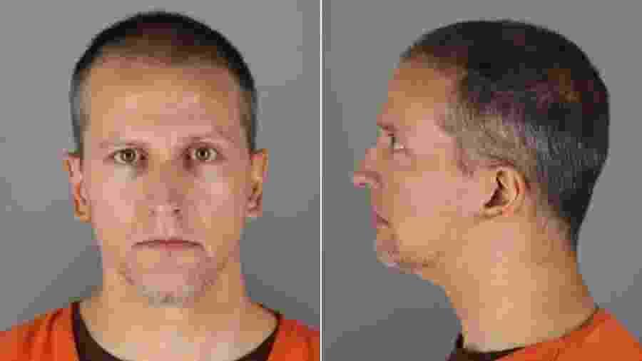 Ex-policial Derek Chauvin, acusado de matar o segurança George Floyd - Divulgação/ Gabinete do xerife do condado de Hennepin