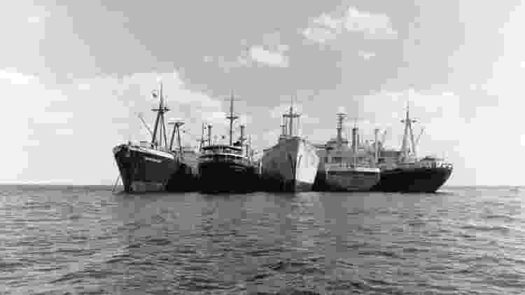 Entre 1967 e 1975, 14 ficaram presos no Canal de Suez - Getty Images - Getty Images