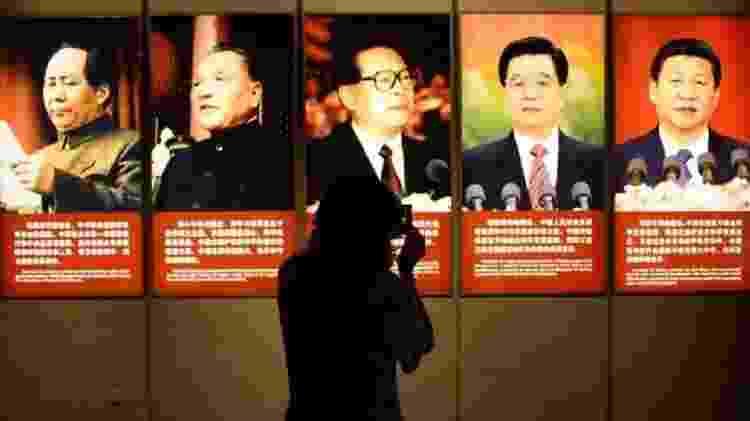 'Mao tornou a China independente e a ergueu, Deng Xiaoping os tornou ricos e Xi os tornou fortes' É assim que os especialistas chineses resumem o pensamento do atual presidente do país. - GETTY IMAGES - GETTY IMAGES