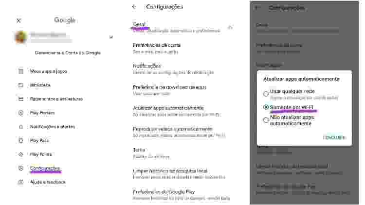 Desativar a atualização automática de apps na Play Store - Reprodução - Reprodução