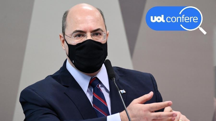 16.jun.2021 - Wilson Witzel, ex-governador do Rio de Janeiro, presta depoimento à CPI da Covid no Senado - Jefferson Rudy/Agência Senado