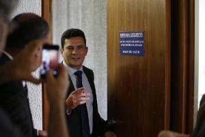 O juiz Sergio Moro participa de audiência pública na CCJ do Senado