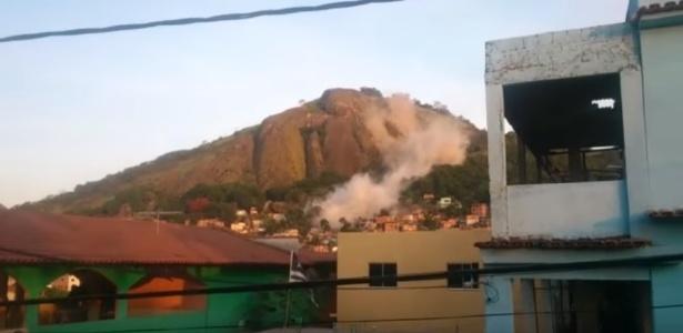 A prefeitura de Vila Velha (ES) abrigou 28 famílias em uma escola após rolamento de pedra