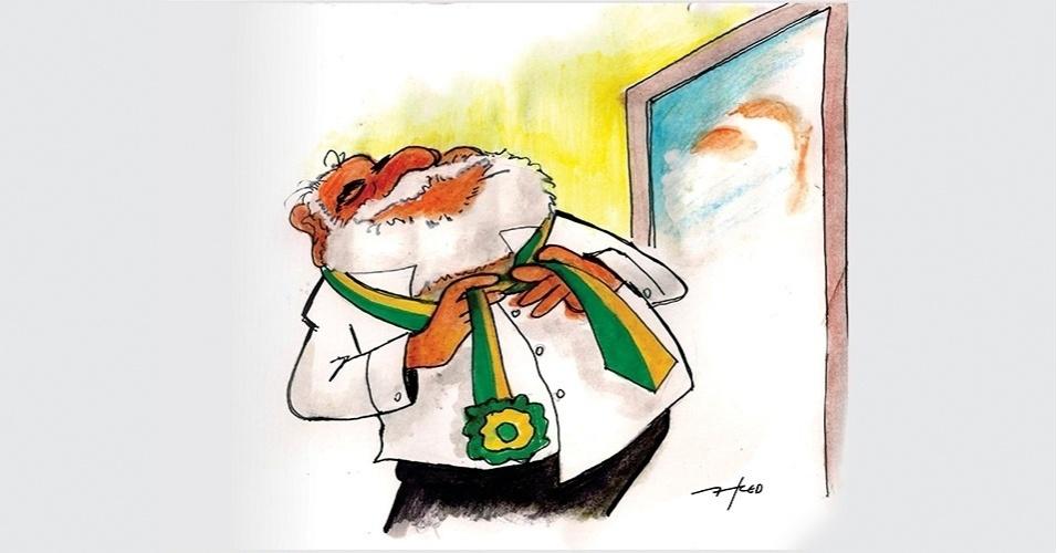 18.mar.2016 - Cuidado, Lula, que o nó já está bem apertado