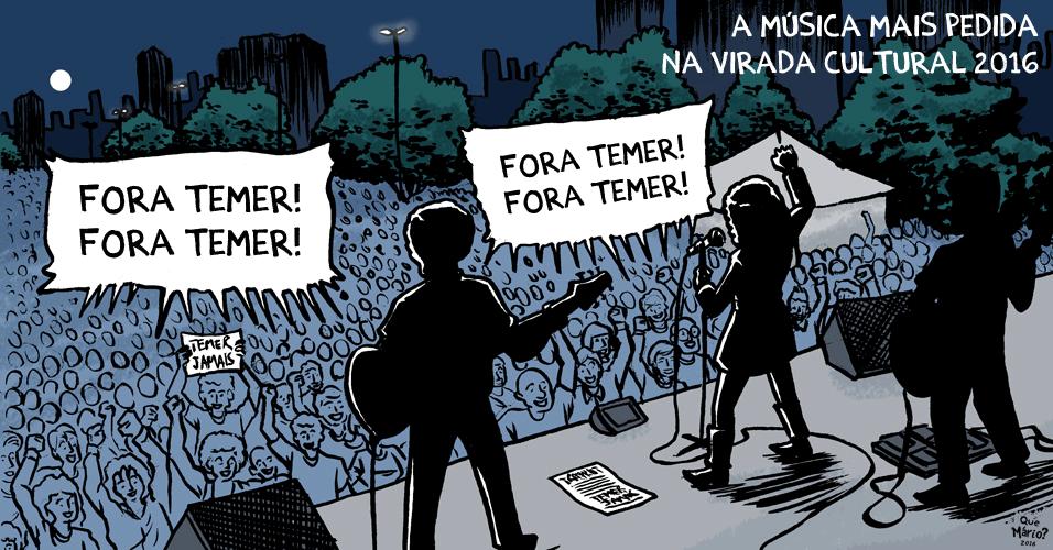 24.mai.2016 - A música mais pedida na Virada Cultural de São Paulo