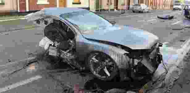 Carro de Brown-Lartey's ficou cortado ao meio após batida - Polícia da Grande Manchester - Polícia da Grande Manchester