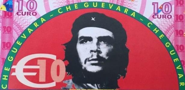 Líderes comunistas e de esquerda estampam os bilhetes falsos da cidade de Gioiosa Ionica, na Itália