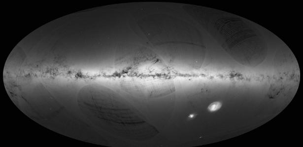 Telescópio espacial europeu Gaia revela o mapa mais detalhado já produzido da Via Láctea, um catálogo de 1 bilhão de estrelas