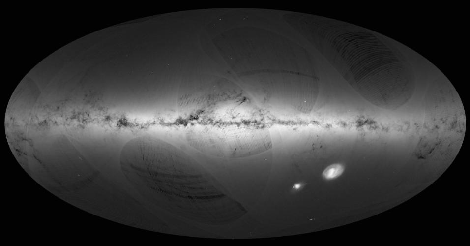 14.set.2016 - Mil dias após seu lançamento, o telescópio espacial europeu Gaia revela o mapa mais detalhado já produzido da Via Láctea, um catálogo de 1 bilhão de estrelas