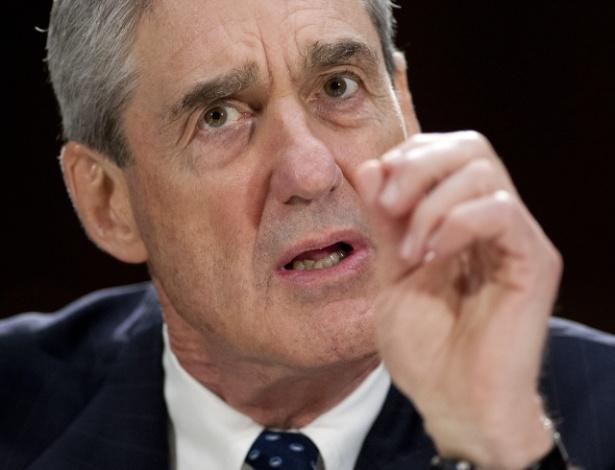 19.jun.2013 - Robert Mueller, então diretor do FBI, testemunha em comissão do Senado, em Washington