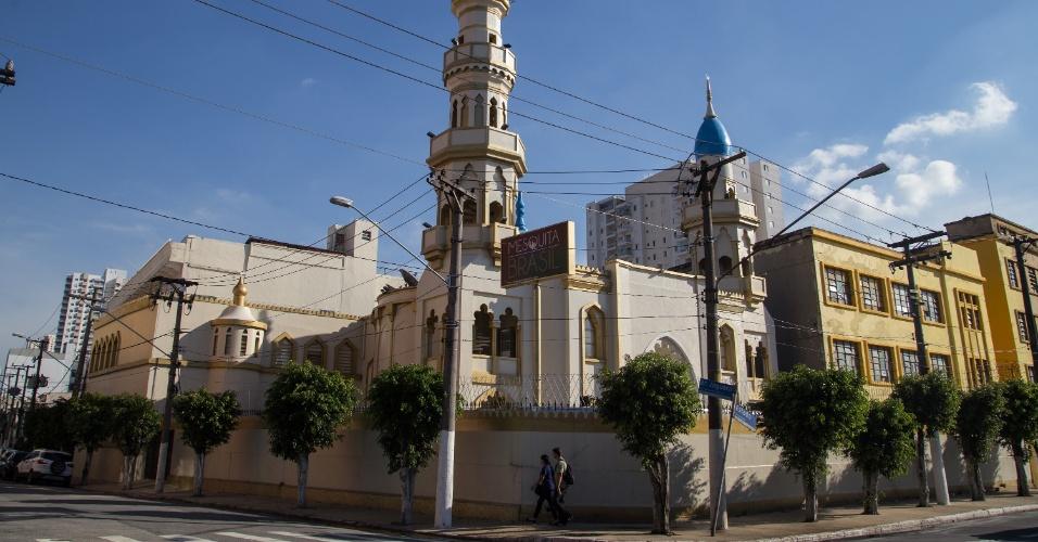 7.jun.2017 - A Mesquita Brasil, a primeira mesquita construída na América Latina, junto da avenida do Estado, na região central de São Paulo