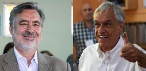 Alejandro Guillier (esq.) e Sebastián Piñera vão disputar a Presidência do Chile