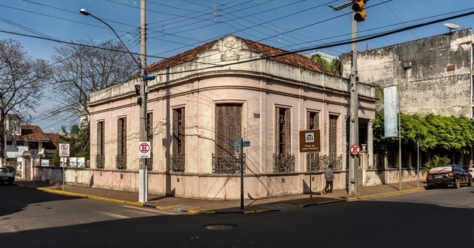 Casa onde viveu a família de João Goulart foi tombada em 2004 e hoje abriga um museu sobre o ex-presidente, deposto pelos militares em 1964
