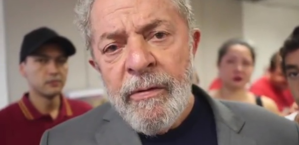 Ex-presidente Lula em vídeo que explica que poderia ter fugido se quisesse - Reprodução