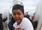 Mario Castellanos, o menino que viaja sozinho entre os milhares de hondurenhos que tentam chegar aos EUA - jorge Carballo/Milenio Diario