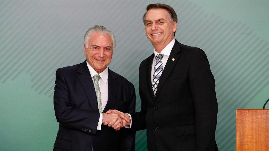 O ex-presidente Michel Temer defendeu a nova nomeação na Petrobras feita por Bolsonaro - Xinhua/Alan Santos/Presidência do Brasil