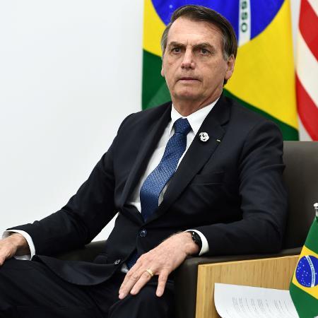 O presidente Jair Bolsonaro participa do encontro do G20 em Osaka, no Japão - Brendan Smialowski / AFP