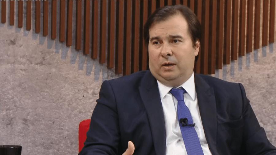 17.jul.2019 - Rodrigo Maia no Central GloboNews - Reprodução