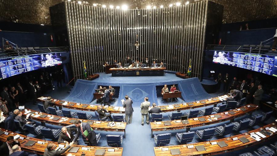 22.out.2019 - Plenário do Senado Federal durante sessão para votar o segundo turno da reforma da Previdência - GABRIELA BILó/ESTADÃO CONTEÚDO