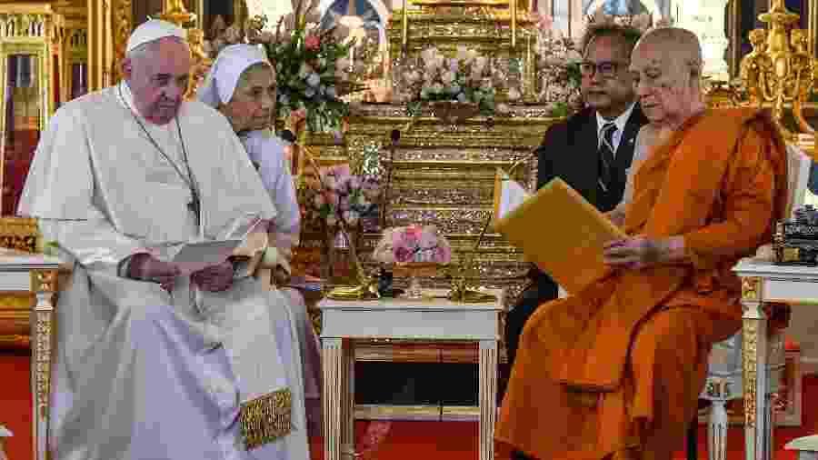 Papa Francisco vai a evento com patriarca budista na Tailândia -  Vincenzo Pinto/AFP