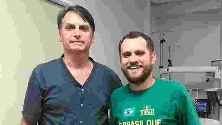 Jordan ao lado do então candidato Jair Bolsonaro - Reprodução