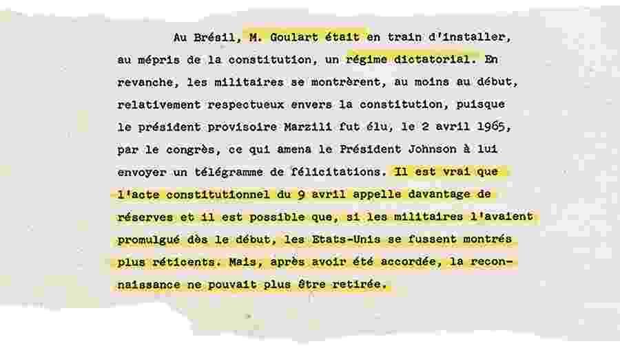 Relatório de diplomata suíço menciona reação dos EUA à guinada anticonstitucional da ditadura brasileira - UOL