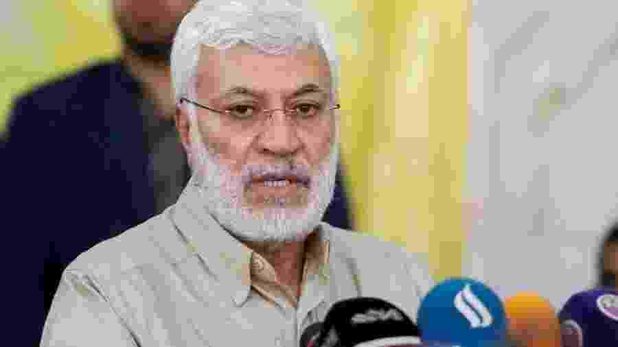 Chefe paramilitar iraquiano Abu Mehdi Al Muhandis, que também foi morto durante um atentado comandado pelos EUA no aeroporto de Bagdá, no Iraque - HAIDAR MOHAMMED ALI/AFP