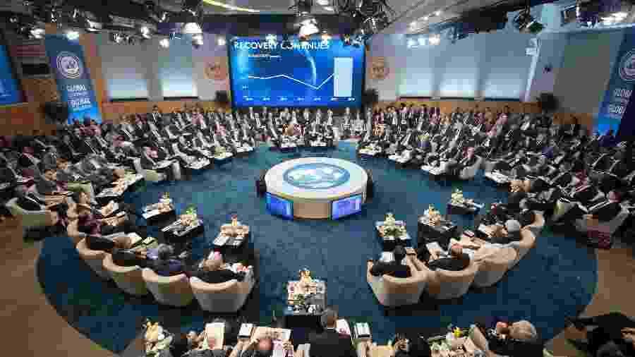 Encontro anual dos países-membros do FMI (Fundo Monetário Internacional, em Washington (DC), Estados Unidos - Getty Images