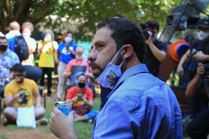 É falso que Boulos tenha cobrado aluguel de moradores sem-teto (Foto: Alex Falcão/Futura Press/Estadão Conteúdo)