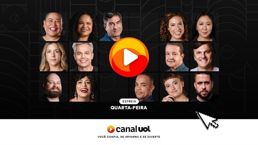 Canal UOL estreia nesta quarta (12) com conteúdo de notícias, entretenimento e esporte - Arte/UOL