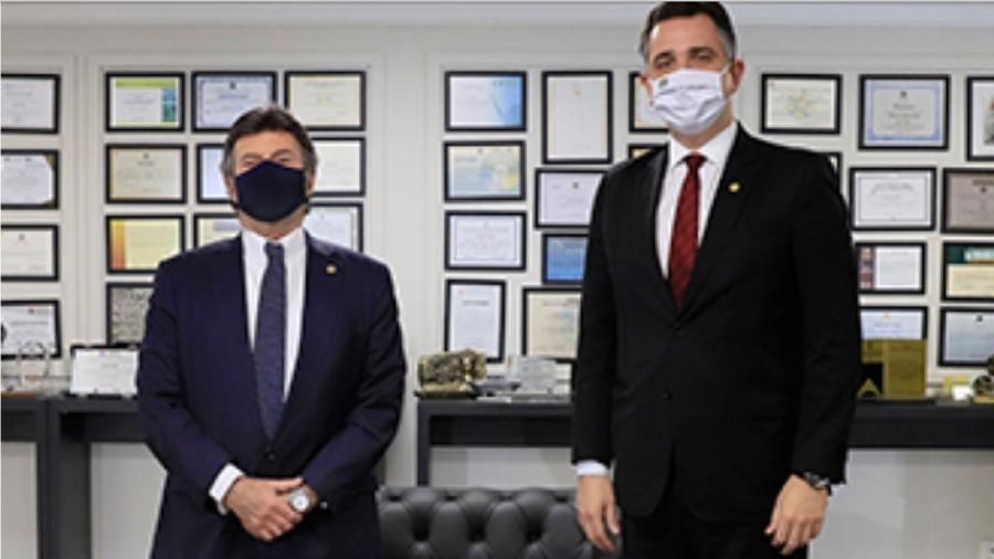 Luiz Fux e Rodrigo Pacheco - Reprodução