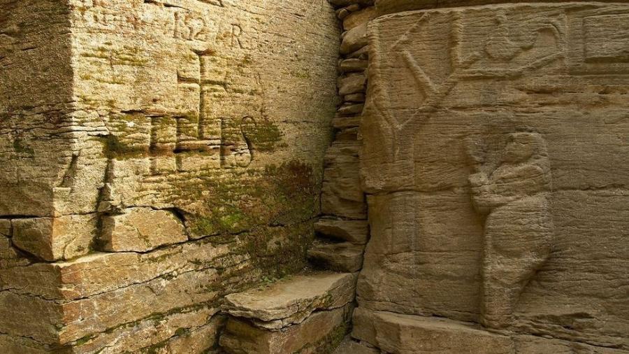 Templos com baixo-relevo e outras estruturas trypillianas gravadas oferecem pistas sobre a antiga cultura - Getty Images