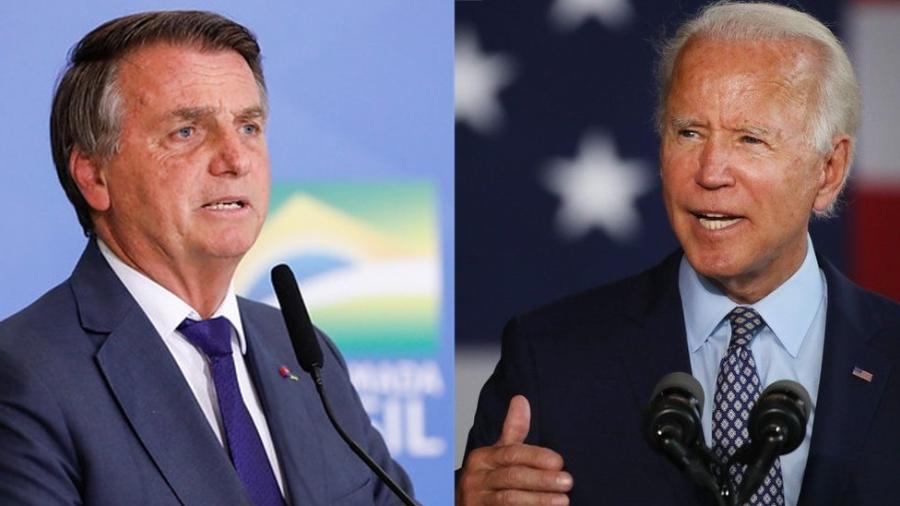 Jair Bolsonaro (sem partido) e Joe Biden - Alan Santos/PR | Getty Images