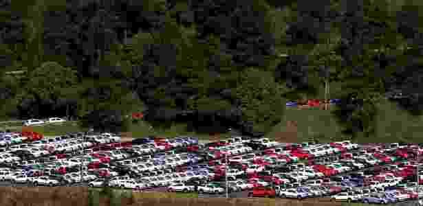 6.jul.2015 - Carros produzidos pela Volkswagen ficam estacionados no pátio da fábrica em São Bernardo do Campo, no ABC; investigação apontou que funcionários da fábrica foram denunciados pela empresa ao DOPS - Paulo Whitaker/Reuters