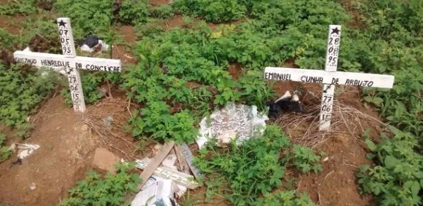 Área de indigentes no cemitério Divina Pastora está abandonada - MPE/Divulgação