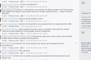 """Diálogo no Facebook em que o internauta xingou a Polícia Militar de """"bando de lazarento"""""""