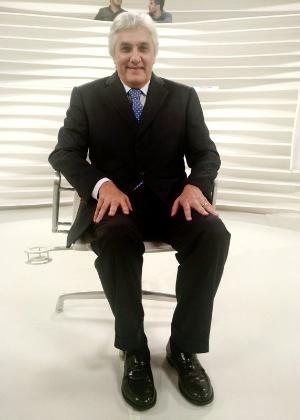 O senador cassado Delcídio do Amaral antes da entrevista ao programa 'Roda Viva'